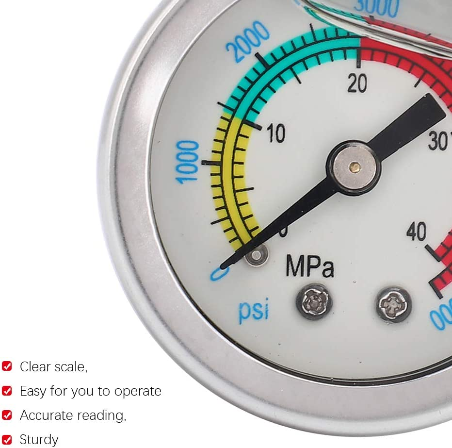 01 OFFicial shop Air Pump Pressure Gauge Size Lightweight and supreme Small