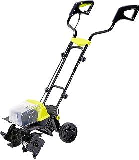 QILIN Electric Garden Tiller/Cultivator, 40V Electric Tiller with Battery, Brushless Motor, Height Adjustable, Hand-push T...