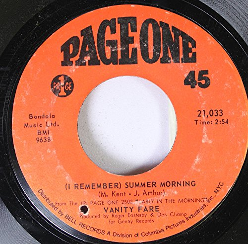 Vanity Fare 45 RPM (I Remember) Summer Morning / Megowd (Something Tells Me)