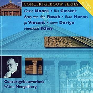 Concertgebouw Series: Grace Moore, Betty van den Bosch, Ria Ginster, Ruth Horna, Jo Vincent
