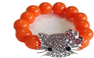 43bb37324 V G S Eternity Fashions Fashion Jewelry ~Kid's Hello Kitty Stretch Bead  Bracelet Orange