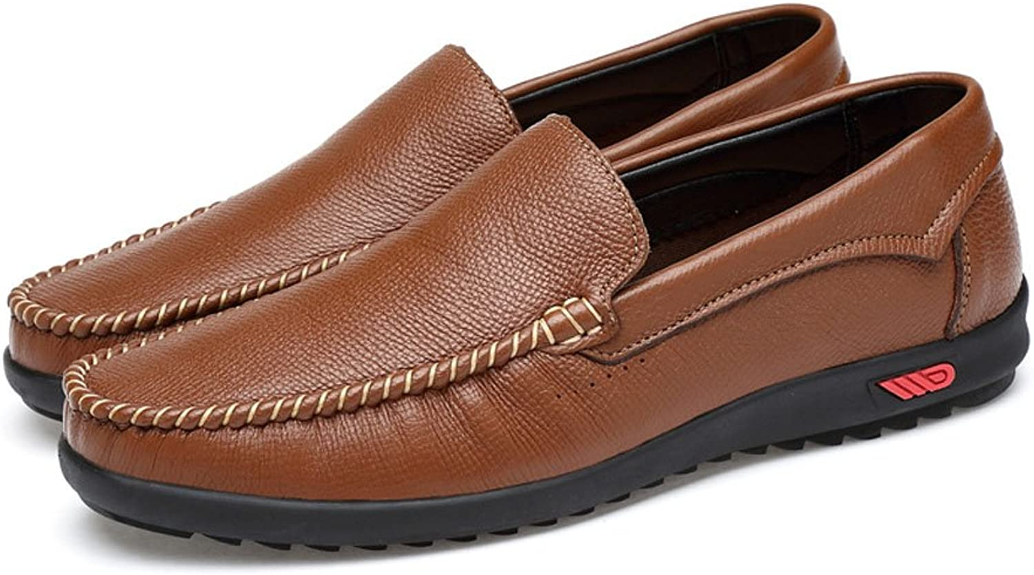Men's Driving Penny Loafers Bare Vamp Casual Boat Moccasins Soft Rubber Sole