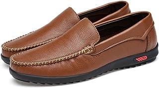 メンズシューズ モカシン ローファー メンズシューズ 軽量 革靴 ペニー ベアヴァンプ カジュアルシューズ ボート ソフトラバーソール 通気性 (Color : Hollow Brown, サイズ : 24 CM)