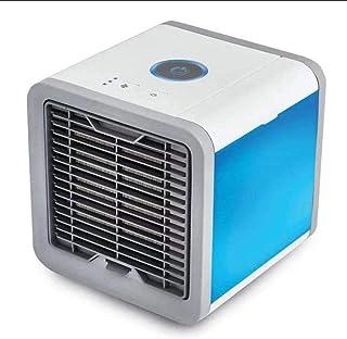 Enfriador Acondicionado,Mini ventilador de circulación de aire Estilo de tanque de agua USB Luces de colores Botón Cubo Refrigeración Ventilador de aterrizaje de escritorio Aire acondicionad