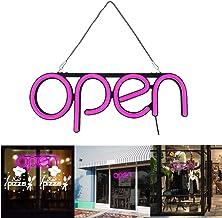 InLoveArts Helder OPEN knipperen of continu licht lichtbord lichtgevende reclame neon schild led open reclame groot helder...