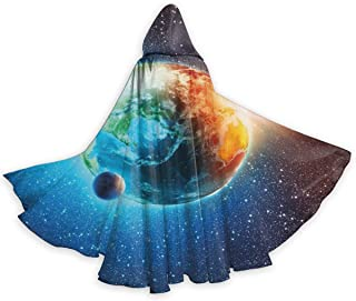 Adult Cape Cloak Earth Majestic Galaxy Outer Space Halloween Hooded Cloaks Costumes Cosplay Capes Robe Witch Party Hooded Cloak