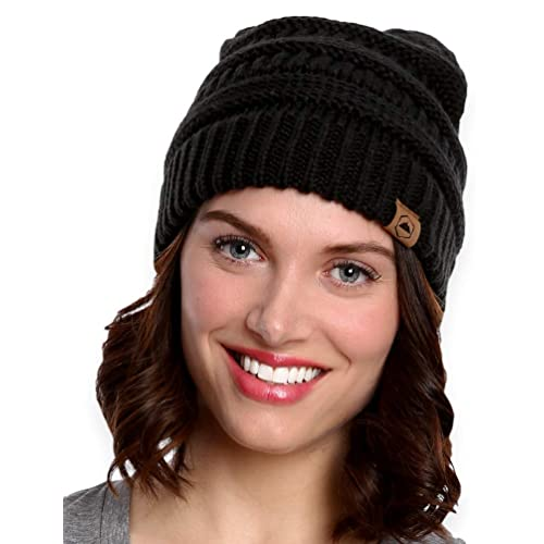 Tough Headwear Cable Knit Beanie - Thick 9d9f783375e
