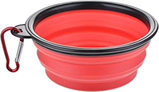 1Pcs Portable Travel Bowl Dog Feeder Water Food Container Silicone Small Mudium Dog Pet