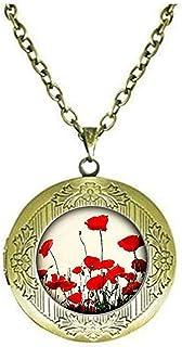 Pendentif en forme de petit c/œur en argent sterling avec fleur naturelle