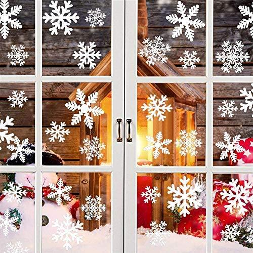 Panda's Mall Pegatinas Decorativas de Copo de Nieve para Adorno Navideño Accesorio de Decoración para Navidad