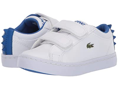 Lacoste Kids Straightset 120 1 CUI (Toddler/Little Kid) (White/Blue) Kid
