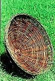 Naturschutzprodukt Bussard Milan Habicht Uhu Nisthilfe Nistkorb aus Weidengeflecht Durchmesser 70 cm