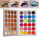 Top Beauty 48 Color Sombra de ojos Altamente pigmentada Brillo Neutral Mate Sombra de ojos de maquillaje Impermeable Ahumado Metálico Brillo de sombra de ojos