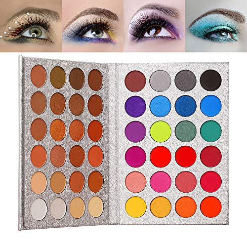 Top Beauty 48 Farben Lidschatten Hochpigmentierte, warme Farben Matt schimmernde, neutrale...