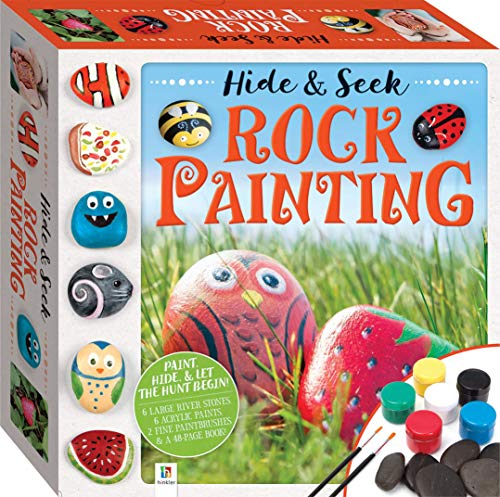 Hide and Seek Rock Painting Kit-This Complete Starter Kit includes all you need to create over 15 Quirky Rock-Art Creations