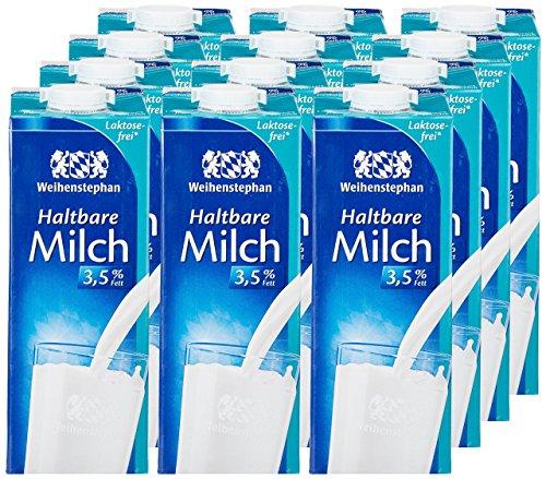 Weihenstephan Haltbare Milch Laktosefrei 3,5% , 12er Pack (12 x 1 l)