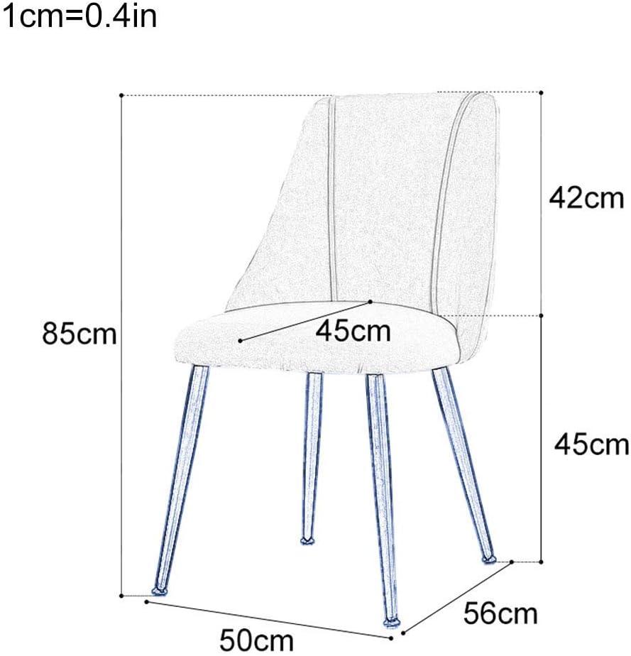 HTL Chaise de Bureau Moderne Rembourré Tissu de Cuisine Et de Salle À Manger Chaise D'Étage, Avec Pieds En Métal Solide, 34
