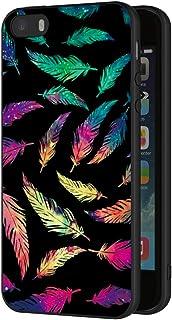 bb857f8d4db ZhuoFan Funda iPhone 5s, iPhone SE Cárcasa Silicona Ultrafina Negra con  Dibujos Diseño Suave TPU