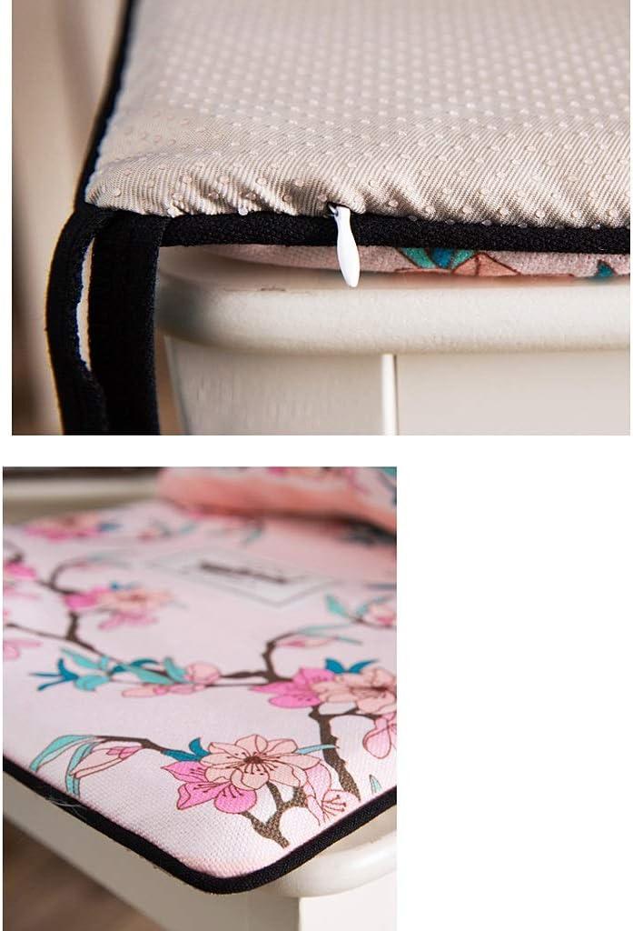 Cozy Coussin de chaise antidérapant pour table et chaise de salle à manger amovible et lavable (couleur : B) A