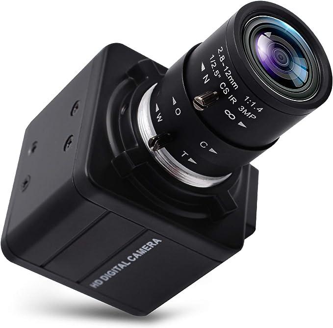 22 opinioni per Webcam 4K Ultra HD 2.8-12 mm obiettivo varifocale USB Mini Webcam 3840x2160@30