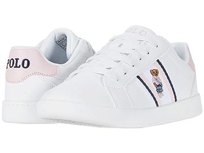 Polo Ralph Lauren Kids Oaklynn Bear (Big Kid) (White Smooth/White/Light Pink/Navy/Sweater Vest Bear) Girl
