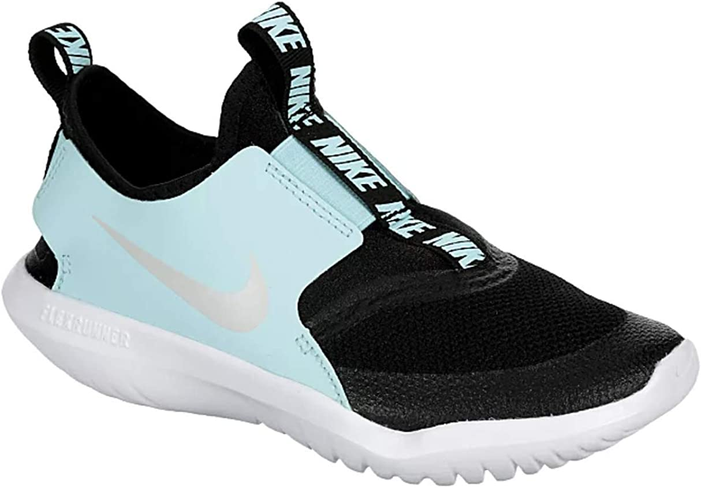 Nike Kids Flex Runner (Little Kid) (Black/Pure Platinum, 11)