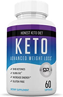 Honest Keto Diet Pills for Weight Loss - Helps Block Carbohydrates - Weight Loss Supplement for Women & Men - Burn Fat Instead of Carbs - BHB Salts - 60 Capsules