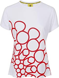 Expo 2020 Dubai Women's T-Shirt Made from Recycled Plastic Bottles - Red Quarter Logo
