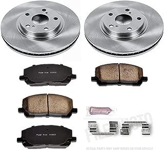Power Stop KOE1137 Front Brake Kit- Stock Replacement Brake Rotors and Ceramic Brake Pads