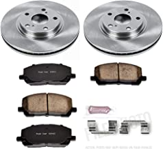 Power Stop KOE1137 Front Brake Kit- Stock Replacement Brake Rotors and Ceramic Brake Pads