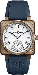 Instruments de Marine Bronze and Wood Case on Blue Rubber Strap Men's Watch BR01-CM-203-B-P-022