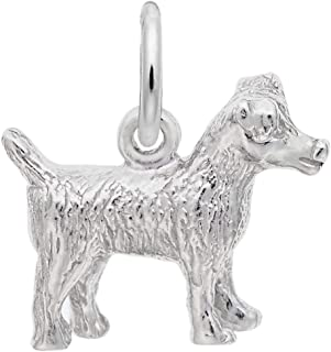 silver jack russell charm