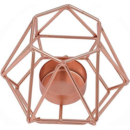 stile nordico Gold in metallo decorazione per la casa Portacandele geometrico in ferro battuto m