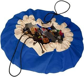 直径150cm 超大 プレイマット キッズマット おもちゃ収納袋 キッズ 子供 玩具収納バッグ ポーチ お片付けマット レジャーシート 園児遊び 折り畳みで便利 ブルー
