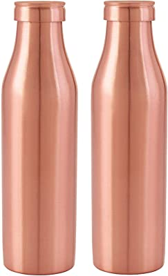 Nirlon Rust Free Copper Bottle Set, 1000Ml, Set of 2