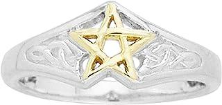 纯银凯尔特结金五芒星戒指尺寸 13(尺寸 3、4、5、6、7、8、9、10、11、12、13、14、15)