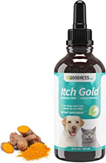 Fur Goodness Sake Dog Allergy Drops for Itchy Skin - Liquid Dog Skin Allergy Treatment - Herbal Dog Allergy Relief and Immune Booster - Turmeric Root for Cat and Dog Allergies