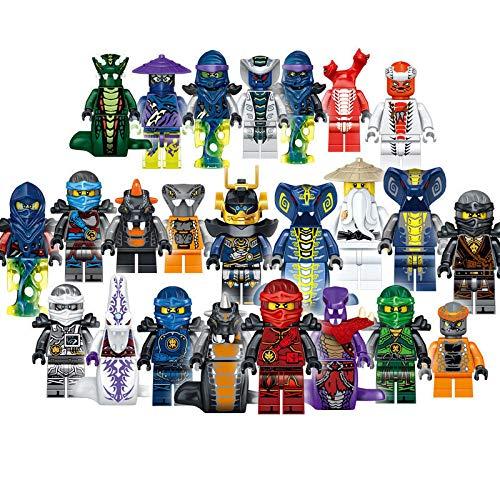 zdfgv 24 Stück/Set Ninjago Bausteine Ziegel Figuren Spielzeug für Kinder Mit Box