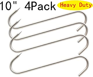 ALELE Double Hooks Meat Hooks Poultry Roasting Hooks Butcher Hook Processing Meat Hook Stainless Steel Rotary Device Slaughtering Barbecue