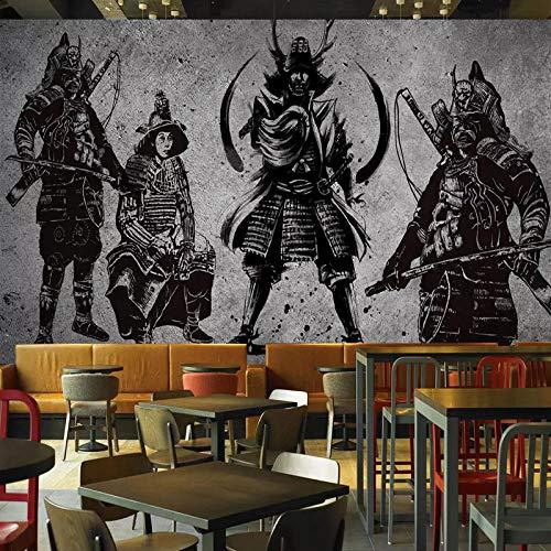 TDYNJJ Mural Carta Da Parati - Arte Creativa Della Retro Parete Del Cemento Del Samurai Giapponese - Fotomurali In Tnt Murale Decor Da Muro Poster Gigante Design Decorazione Regalo Ragazzo