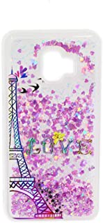 Galaxy J2 Core Case for Girls Women, WE3DCELL Glitter Biling Sparkly Girly Diamond Liquid Protective Phone Case for Samsung Galaxy J2 Core (Paris)