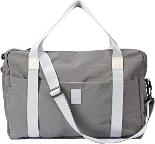 P.travel Travel Lightweight Waterproof Duffle Bag, Foldable Gym Tote Storage Carry, Portable Luggage Duffle Tote Bag (Grey)