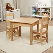 """Melissa & Doug Solid Wood Table & Chairs (Kids Furniture, Sturdy Wooden Furniture, 3-Piece Set, 20"""" H x 23.5"""" W x 20.5"""" L, Great Gift for Girls and Boys - Best for 3, 4, 5 Year Olds and Up)"""