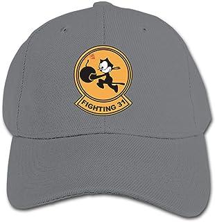 ADGoods Kids Children VF-31 Fighting Baseball Cap Adjustable Trucker Cap Sun Visor Hat For Boys Girls Gorra de béisbol par...