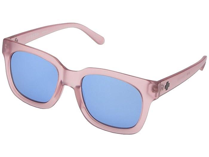 Spy Optic Shandy (Matte Trans Blush/Gray/Light Blue Flash Mirror) Fashion Sunglasses