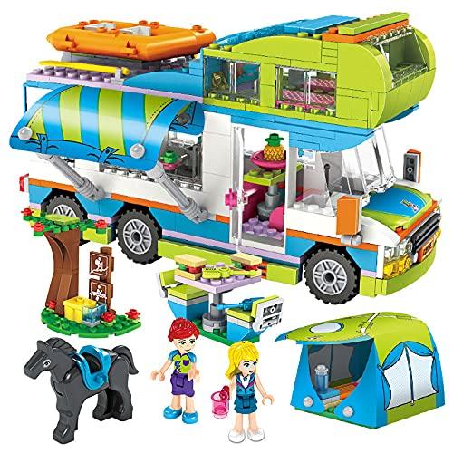 KGAYUC Pequeñas Partículas de Camping Car Montando El Juego de Juguetes de Bricolaje para Niños, Adecuado para Desarrollar Inteligencia Y Mejorar La Capacidad Práctica (534Pcs)