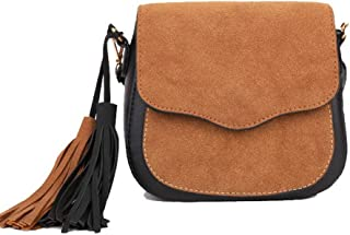 VogueZone009 Women's Nubuck Dacron Shopping Casual Fringe Crossbody Bags,CCABO204293