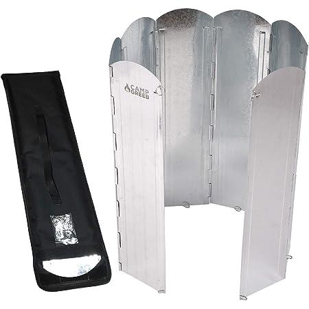 キャンプグリーブ 大型反射板 大型風防板 8枚連結 長さ120cm 専用手さげつき収納ケース Oリング付属 固定可能 反射式 屋外 屋内