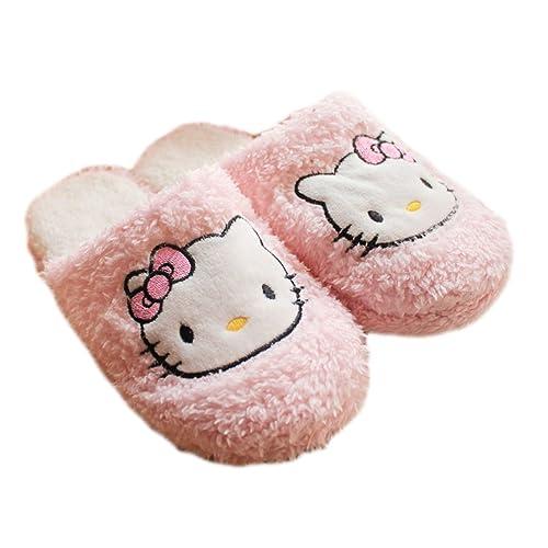 ece02ff33227 Lifestar Hellokitty Plush Soft Warm Autumn Winter Home Slippers