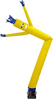 Skyerz Inflatable Advertising Sky Air Puppet Wacky Waving Arm Flailing Tube Man with Blower, 20 Feet, Yellow